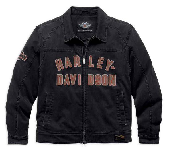 Harley-Davidson Men's Becher Garage Jacket Coat Zip Front, Black. 98569-16VM - Wisconsin Harley-Davidson