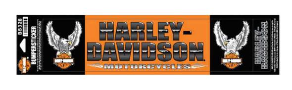 Harley-Davidson Upwing Eagle Bumper Stickers, Lg & Sm, Orange/Black BS328 - Wisconsin Harley-Davidson