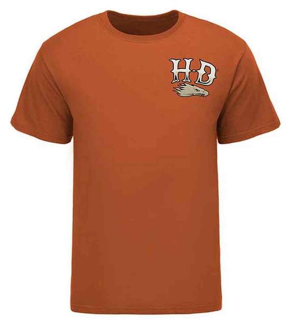 Harley-Davidson Men's Screamin' Eagle Tee, Retro Helmet, Texas Orange HARLMT0228 - Wisconsin Harley-Davidson