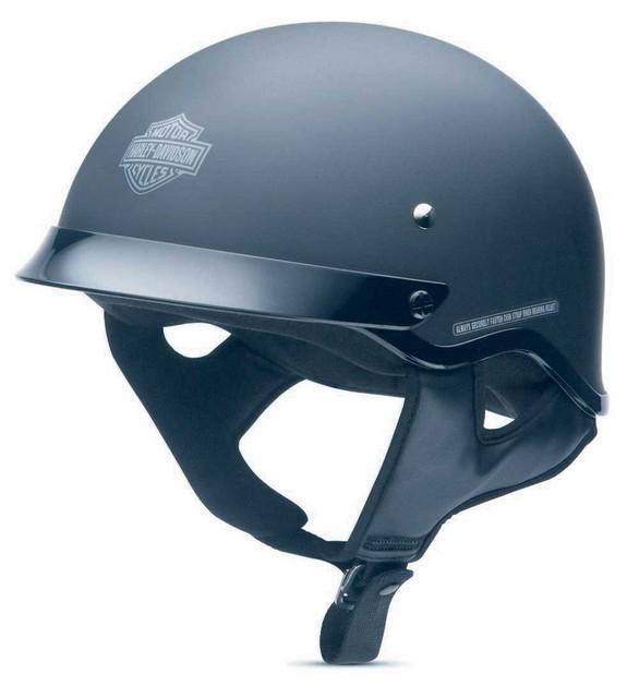 Harley-Davidson Men's Stock II Half Helmet Matte Black 98215-12VM - Wisconsin Harley-Davidson