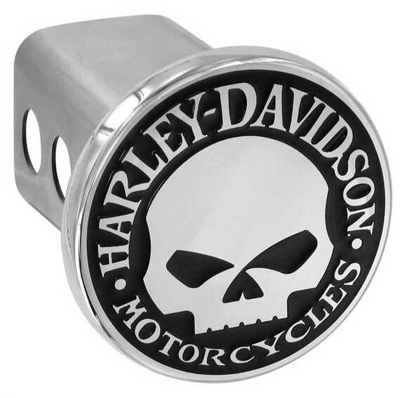 Harley-Davidson Willie G. Skull Trailer Hitch Cover 2'' Stainless Steel HDHC240 - Wisconsin Harley-Davidson