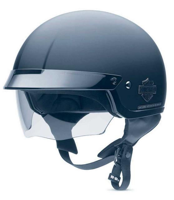 Harley-Davidson Men's Bar & Shield Half Helmet With Sun Shield 98224-11VM - Wisconsin Harley-Davidson
