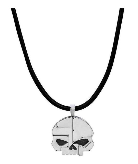 Harley-Davidson Mens Industrial Willie G Skull Necklace, Sterling Silver HDN0302 - Wisconsin Harley-Davidson