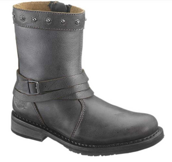 Harley-Davidson Women's Mandy 7-Inch Black Leather Motorcycle Boots D83659 - Wisconsin Harley-Davidson