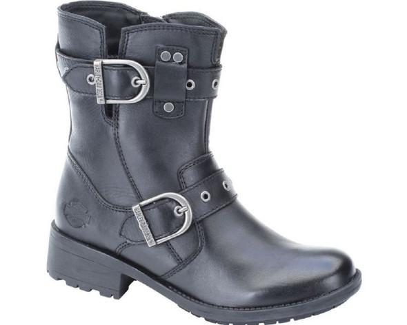 Harley-Davidson Women's Grace 6.75-Inch Boots. Black, DK Brown, Beige. D83728 - Wisconsin Harley-Davidson