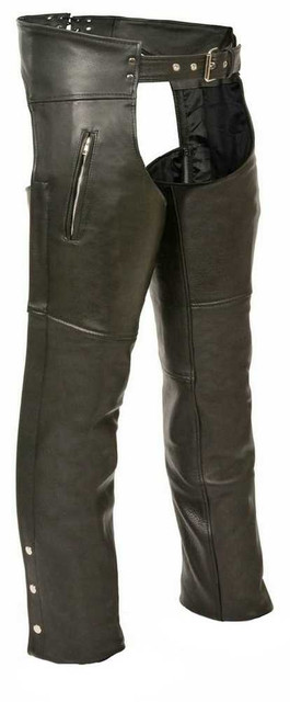 Leather King Men's Zippered Thigh Pocket Chaps SH1190 - Wisconsin Harley-Davidson