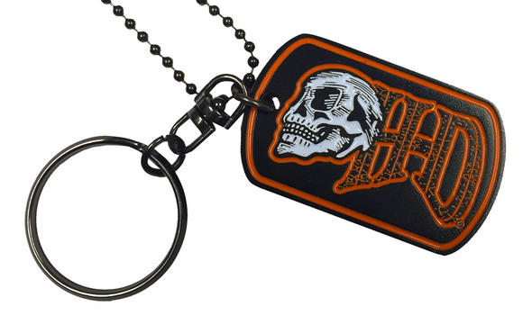 Harley-Davidson Edgy H-D Skull Performance Dog Tag, Chain & Key Ring 8004880 - Wisconsin Harley-Davidson