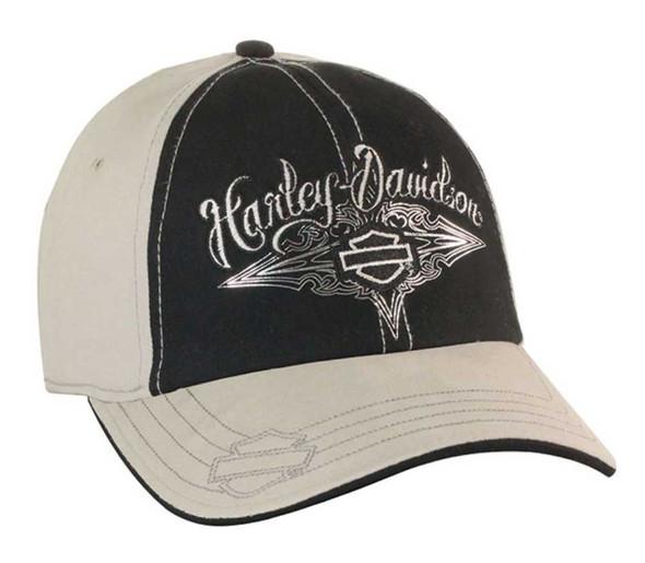 Harley-Davidson Womens Stretch Fit Baseball Cap Bar & Shield Birch/Black BC07788 - Wisconsin Harley-Davidson