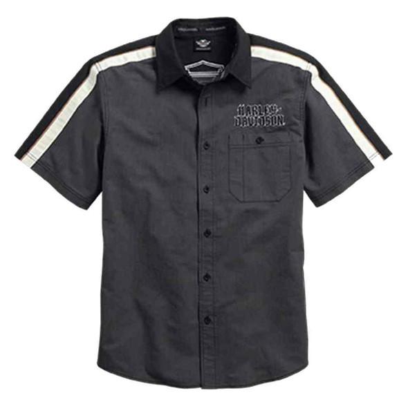 Harley-Davidson Men's Soul of the Journey Garage Shirt, Grey/Black. 96060-16VM - Wisconsin Harley-Davidson