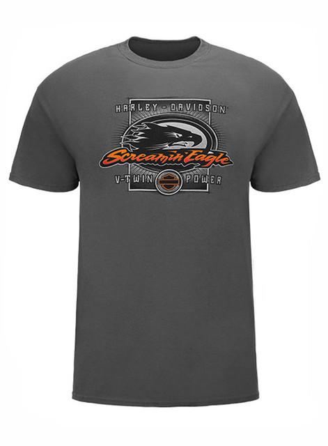 Harley-Davidson Men's Screamin' Eagle T-Shirt, V-Twin Power Skull HARLMT0213 - Wisconsin Harley-Davidson