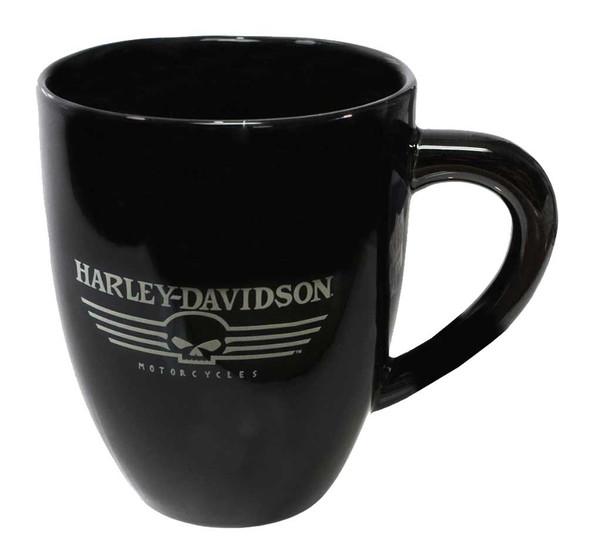 Harley-Davidson Ceramic Coffee Mug, Flat Willie G Skull 15 oz. Black HD-HD-919 - Wisconsin Harley-Davidson