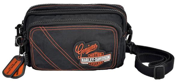 Harley-Davidson Rally 3IN1 Waistpack, Vintage Bar & Shield Patch, RL7267S-ORGBLK - Wisconsin Harley-Davidson