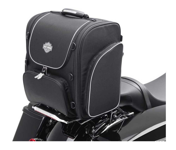 Harley-Davidson Bar & Shield Zippered Touring Luggage Bag Black Nylon 93300004 - Wisconsin Harley-Davidson