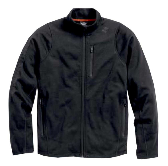Harley-Davidson Men's Performance Zippered Knit Casual Jacket, Black 96088-16VM - Wisconsin Harley-Davidson