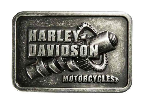 Harley-Davidson Men's Sculpted Screw Belt Buckle, Aluminum Casting 97700-16VM - Wisconsin Harley-Davidson