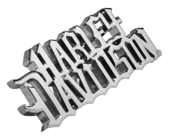 Harley-Davidson Sculpted H-D Logo Bottle Opener, Chrome Plated 96803-16V - Wisconsin Harley-Davidson