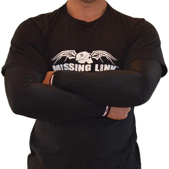 Missing Link SPF 50 Solid Black ArmPro Tattoo Compression Sleeves - APBK - Wisconsin Harley-Davidson