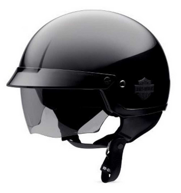 Harley-Davidson Men's Bar & Shield Half Helmet With Sun Shield 98212-10VM - Wisconsin Harley-Davidson