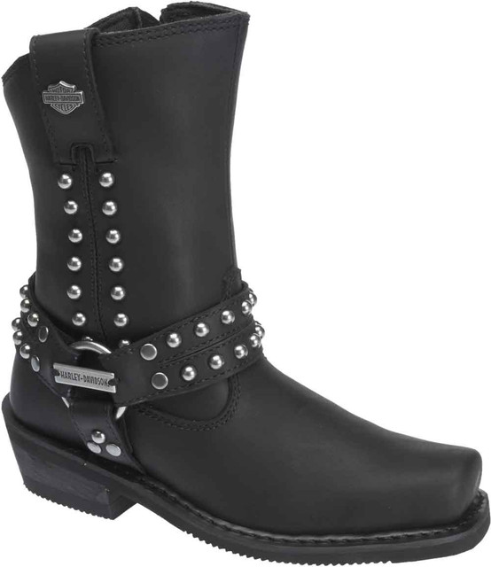 Harley-Davidson Women's Linnea 9.25-Inch Black Leather Motorcycle Boots. D87081 - Wisconsin Harley-Davidson