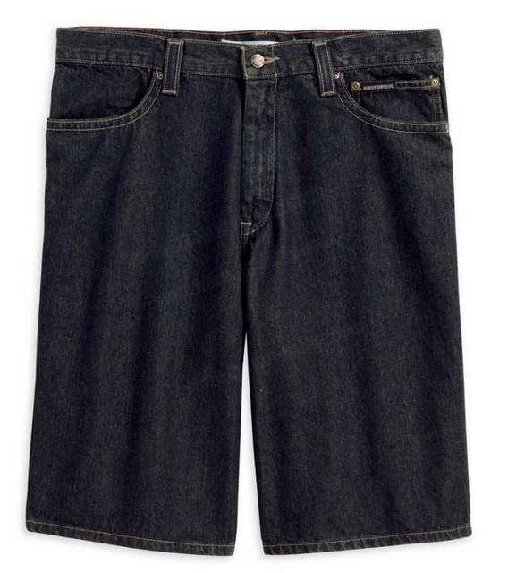 Harley-Davidson Men's Denim Shorts Dark Washed Denim 11.5'' Inseam 99070-13VM - Wisconsin Harley-Davidson