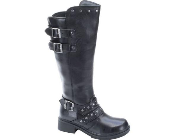 Harley-Davidson Women's Hope 15-Inch Black Boots. Side Buckles. D83734 - Wisconsin Harley-Davidson