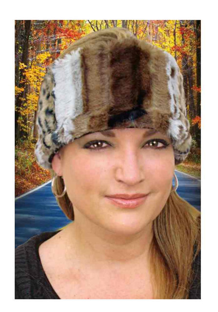 That's A Wrap Women's Chinchilla Faux Fur Head Muff, Brown HM1318 - Wisconsin Harley-Davidson