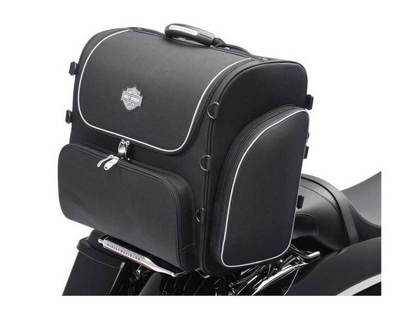 Harley-Davidson Bar & Shield Zippered Rolling Touring Bag Black Nylon 93300008 - Wisconsin Harley-Davidson