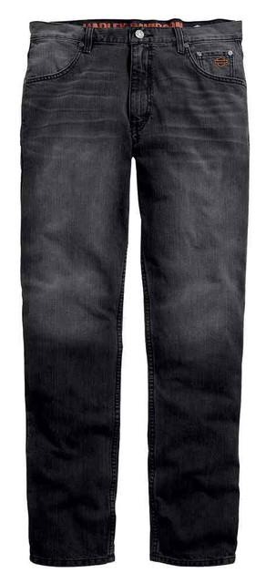 Harley-Davidson Men's Straight Leg Fit Modern Jeans, Washed Black 99029-16VM - Wisconsin Harley-Davidson