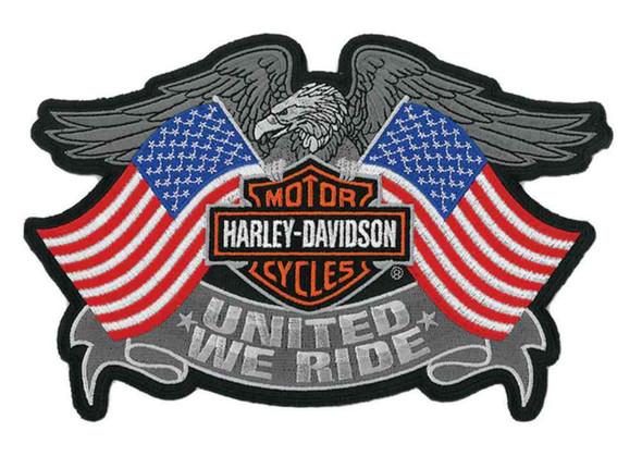 Harley-Davidson United We Ride Eagle Emblem, LG Patch, 8 x 5.25 Inch EM125844 - Wisconsin Harley-Davidson