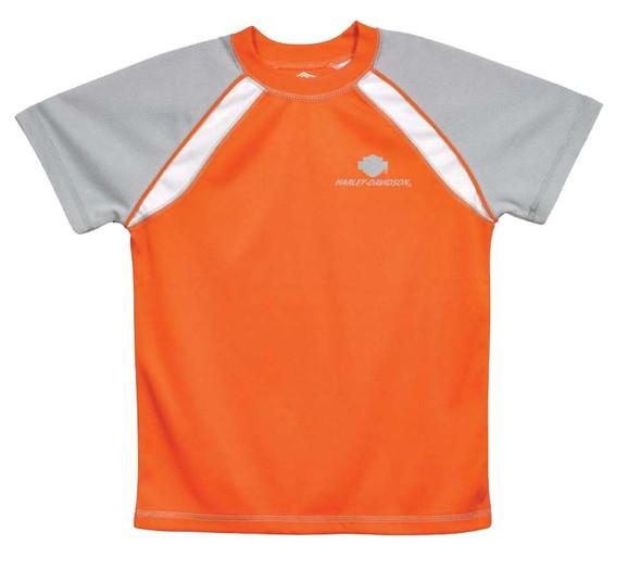Harley-Davidson Little Boys' Tee, B&S Neon Orange Performance T-Shirt 2381458 - Wisconsin Harley-Davidson