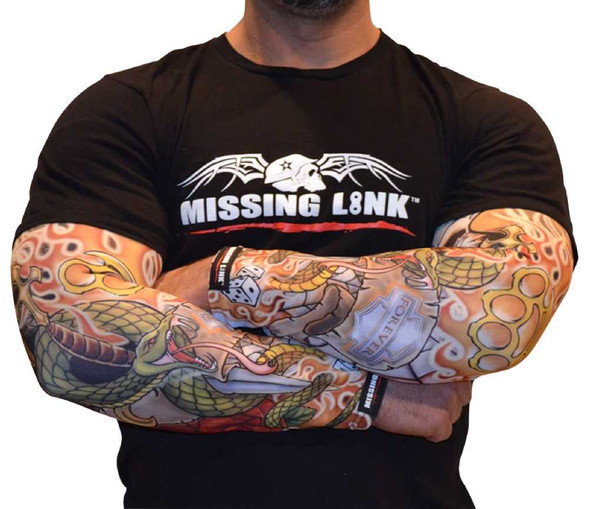 Missing Link SPF 50 Forever Ink'd ArmPro Tattoo Compression Sleeves - APFI - Wisconsin Harley-Davidson