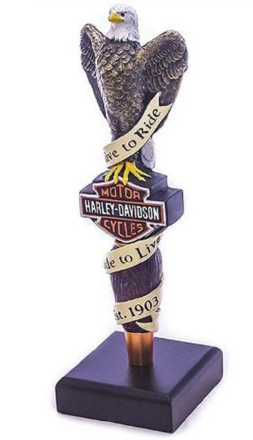 Harley-Davidson Live To Ride Eagle Bar Tap Handle HDL-18518 - Wisconsin Harley-Davidson