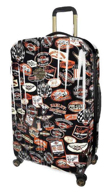 Harley-Davidson 29 Inch Vintage Pullman Spinner Wheels Luggage, Black 99929-VIN - Wisconsin Harley-Davidson