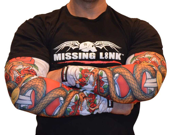 Missing Link SPF 50 Love Bites ArmPro Tattoo Compression Sleeves APLB - Wisconsin Harley-Davidson