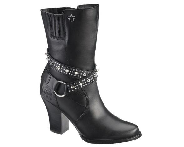 Harley-Davidson Women's Rosana 7-Inch Black Dress Boots. 3-Inch Heels. D83674 - Wisconsin Harley-Davidson