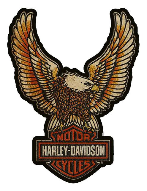 Harley-Davidson 3D Cut Out Eagle Double Hardwood Sign 29.5 x 22 in HB1-EGLP-HARL - Wisconsin Harley-Davidson