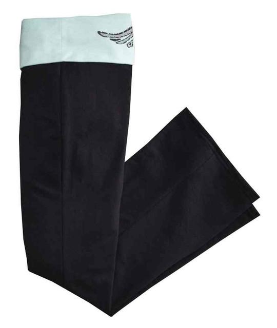 Harley-Davidson Women's Fold-Over Waist Sleep Lounge Pant, Black/Mint 97863-16VW - Wisconsin Harley-Davidson