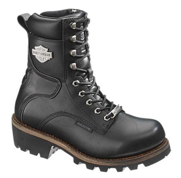 Harley-Davidson Women's Tyson 7-Inch Black Leather Motorcycle Boots D87016 - Wisconsin Harley-Davidson