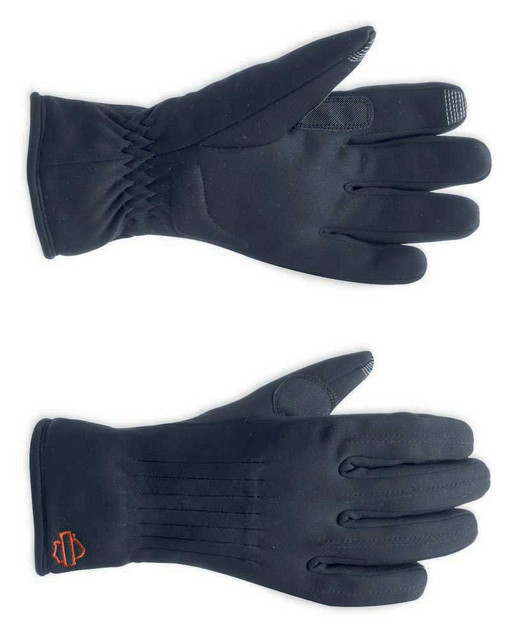 Harley-Davidson Women's Soft Shell Gloves with Touchscreen Technology 98265-13VW - Wisconsin Harley-Davidson