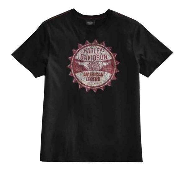 Harley-Davidson Men's Black Label American Legend Short Sleeve Tee 96007-15VM - Wisconsin Harley-Davidson