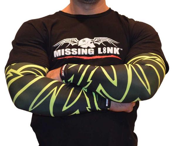 Missing Link SPF 50 HiViz Tribal Tattoo ArmPro Compression Sleeves - APHT - Wisconsin Harley-Davidson