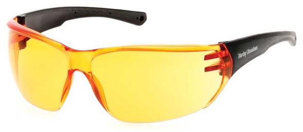 Harley-Davidson Men's Sunglasses, H-D Temple Script, Orange Lens & Black Frames - Wisconsin Harley-Davidson