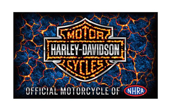 Harley-Davidson Screamin' Eagle Lava B&S Banner, 3 x 5 ft. Black HARLNV0092 - Wisconsin Harley-Davidson