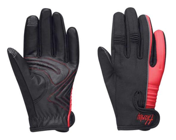 Harley-Davidson Women's Riveting Full Finger Contrasting Gloves, 97297-15VW - Wisconsin Harley-Davidson