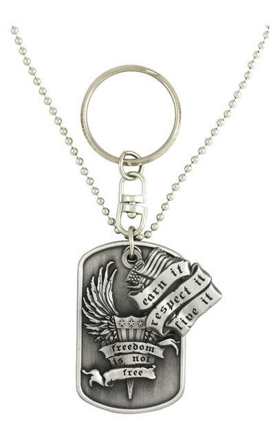 Harley-Davidson Dog Tag, Freedom Is Not Free Bar&Shield Chain/Key Chain 8002855 - Wisconsin Harley-Davidson