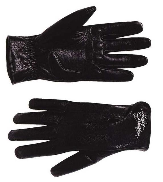 Harley-Davidson Women's Perforated Full-Finger Black Leather Gloves 98346-09VW - Wisconsin Harley-Davidson