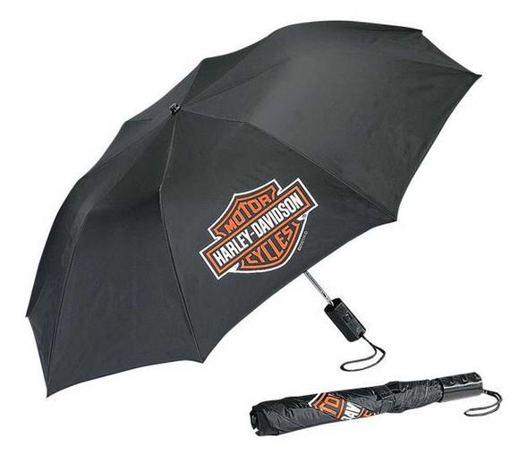Harley-Davidson Bar & Shield Compact Umbrella Black UMB302302 - Wisconsin Harley-Davidson