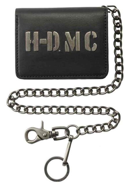 Harley-Davidson Mens HDMC Embedded Biker Bi-fold Short Wallet, Black MC8561L-BLK - Wisconsin Harley-Davidson