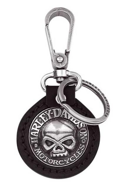 Harley-Davidson Willie G. Skull Medallion Key Chain Fob, Black 99443-06V - Wisconsin Harley-Davidson
