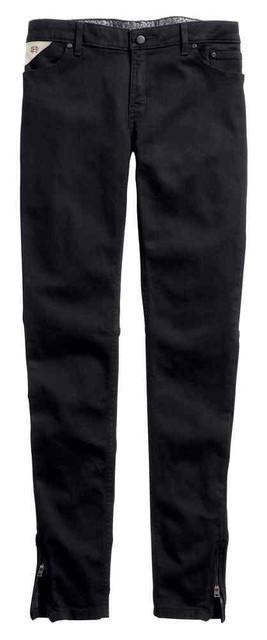 Harley-Davidson Women's Black Label Skinny Zip Mid-Rise Jeans, Black 99178-16VW - Wisconsin Harley-Davidson